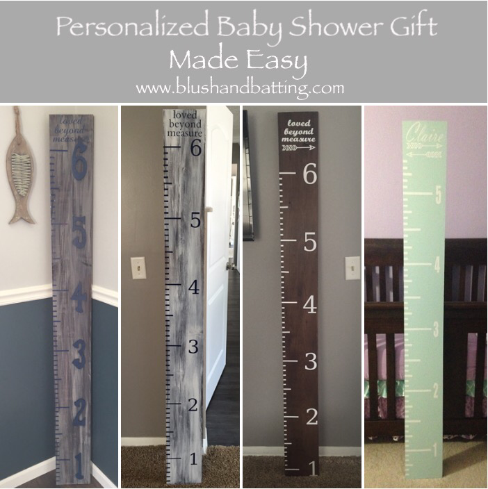 Personalized Baby Shower Gift Made Easy- Growth Ruler | Blush & Batting Blog