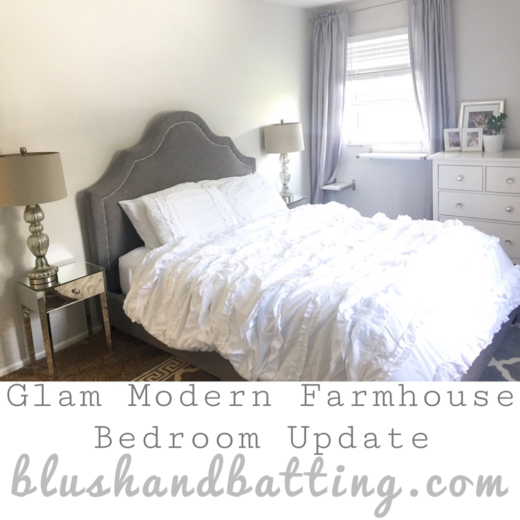 Glam Modern Farmhouse Bedroom Update | Blush and Batting Blog