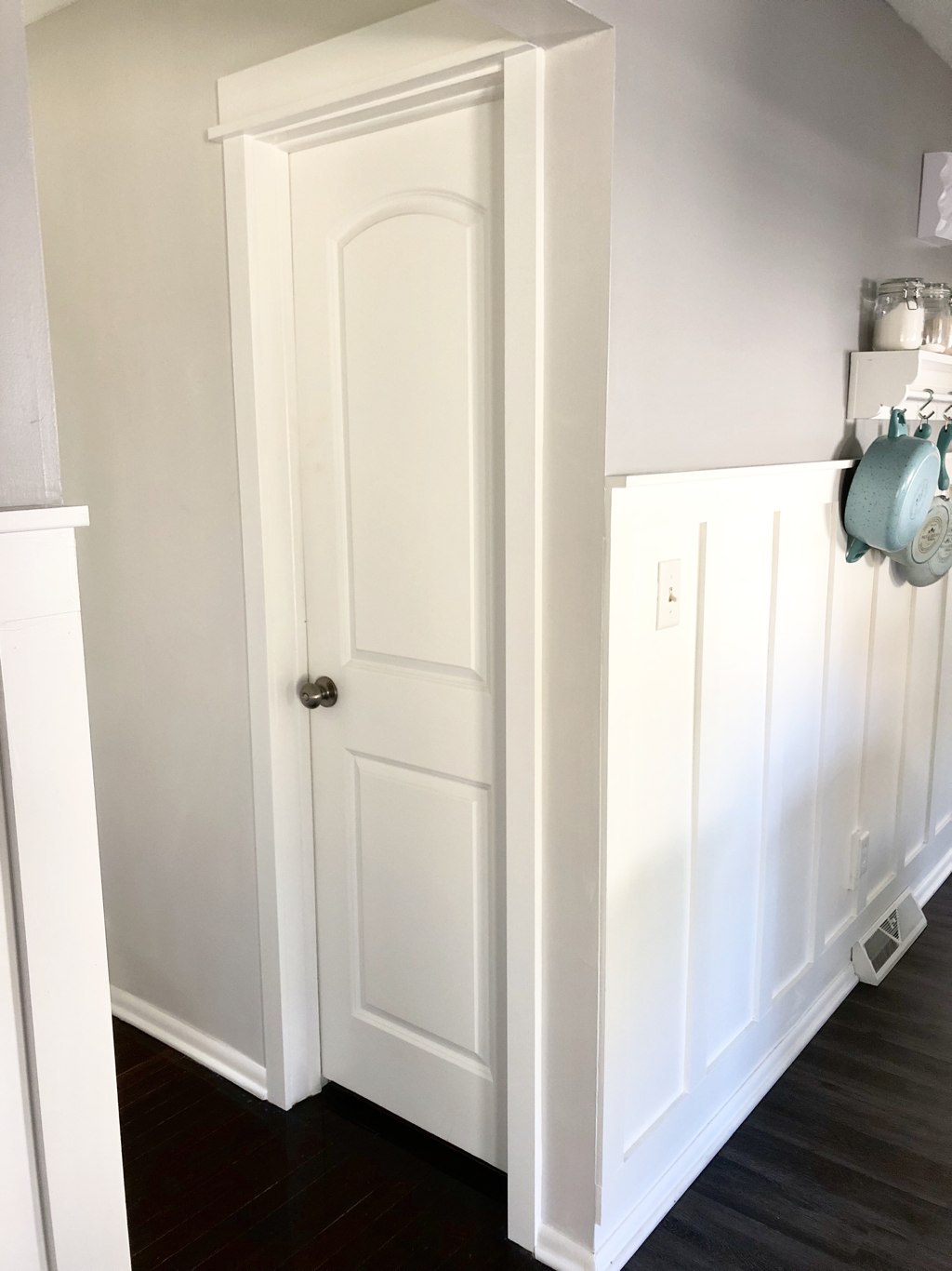 Affordable Farmhouse Inspired Trim/Moulding Update | Blush and Batting Blog