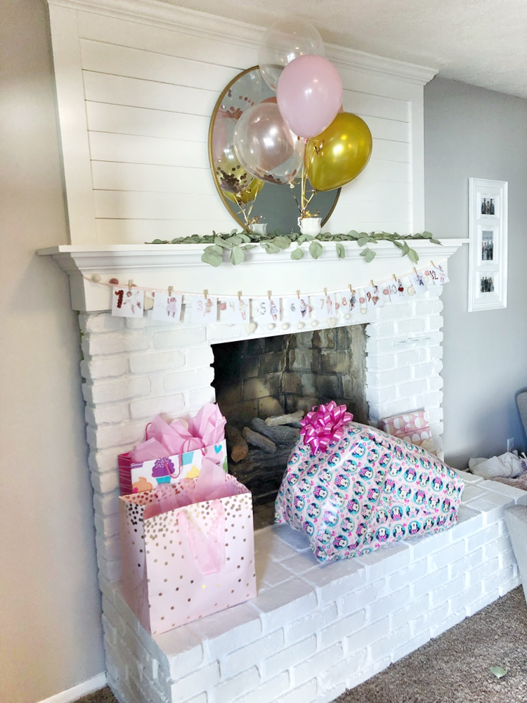 Adelaide's Pink and Gold First Birthday 12 Month Photo Garland | Blush and Batting Blog
