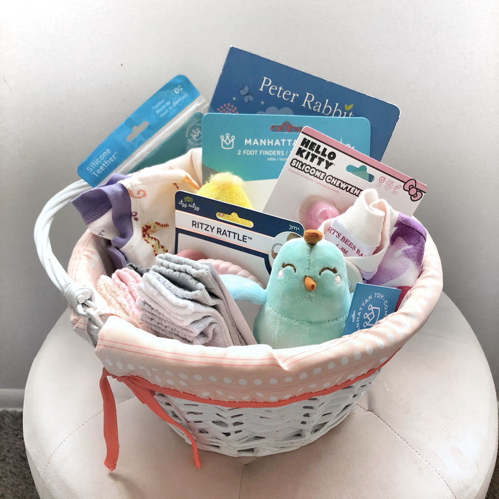 Baby and Toddler Girl Easter Baskets | Blush and Batting Blog