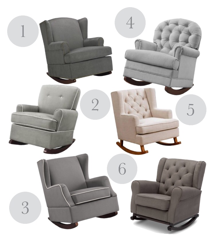 Modern Neutral Rockers/Gliders Under $400 | Blush and Batting Blog